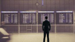 Flughafen Flug storniert